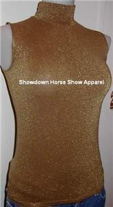 Gold Western Rail Horse Show Hobby Apparel Slinky S / M