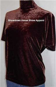 Brown Western Horse Show Hobby Apparel Slinky Plus Size