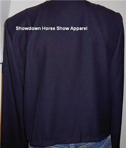 Navy Gold Western Horse Show Hobby Jacket Plus Size 14