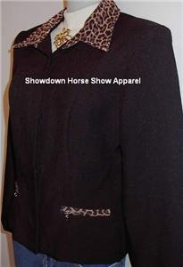Leopard Western Horse Show Hobby Jacket Plus Size 13/14