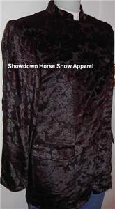 Black Velvet Embossed Western Horse Show Hobby Jacket 6