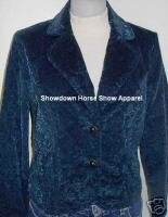 Green Corduroy Western Halter Horse Show Hobby Jacket S