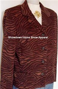 Tiger Striped Western Halter Horse Show Hobby Jacket 10