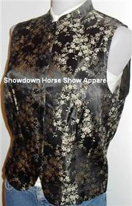 Golden Black Western Halter Horse Show Hobby Vest 12