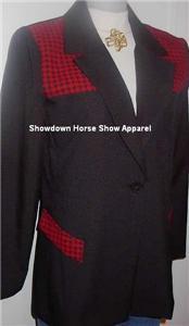 Black & Red Western Halter Horse Show Hobby Jacket 10