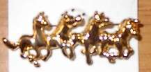 4 Running Horses Horse Show Jewelry Pin Brooch SHOWTIME