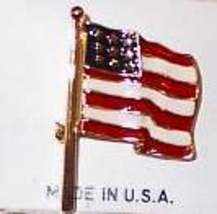 American Flag Horse Show Jewelry Pin Brooch SHOWTIME - $15.00