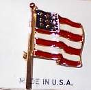 American Flag Horse Show Jewelry Pin Brooch SHOWTIME
