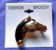 Horse Head Rhinestone Eye Horse Show Jewelry Pin Brooch