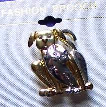 Cat & Dog Horse Show Jewelry Pin Brooch SHOWTIME! NEW!