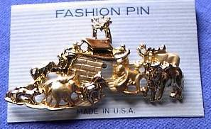 Noah's Ark Horse Show Jewelry Pin Brooch SHOWTIME! NEW!