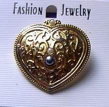 Heart Shaped Beaded Horse Showtime Jewelry Pin Brooch - $15.00