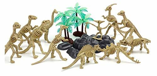 Hanlip Toys Dinosaur Dino Skeleton Bone Skull Figure Figurines Toy Playset Play