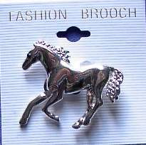 Running Horse Horse Show Jewelry Pin Brooch SHOWTIME!