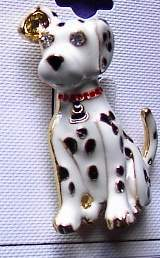 Enamel Stones Dalmation Horse Show Jewelry Pin Brooch
