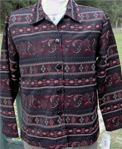 New Blk Red Rail Halter Horse Show Jacket LG Clothes