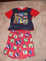 Lego Star Wars Character Red Short & Shirt Pajama Set Boys Size Small nb - $5.99