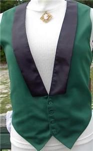 Green & Black Halter Horse Show Vest Small Showmanship