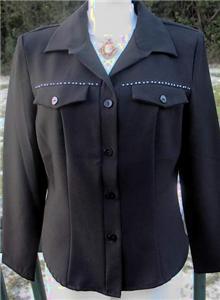 Black Rhinestone Rail Halter Horse Show Shirt Jacket 10