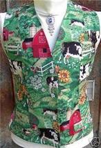 Cow Bovine Barn Rail Halter Horse Show Vest S/M CUTE! - $24.99