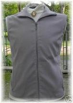 Grey Zippered Halter Horse Show Vest L Clothes Apparel - $38.00