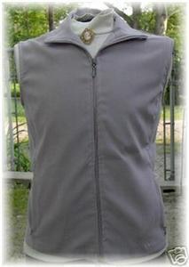Grey Zippered Halter Horse Show Vest L Clothes Apparel