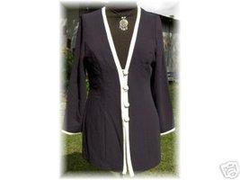 Classy Navy & Cream Halter Horse Show Jacket Size 8P - $40.00