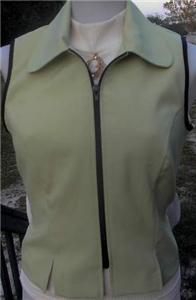 Lime Ice Green & Black Rail Halter Horse Show Vest 3/4