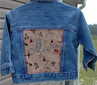 Kids Bear Western Denim Horse Show Jacket Sz 12 Months