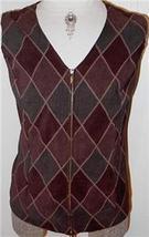 BrownTan Green Rail Halter Horse Show Vest Plus Size 1X - $38.00
