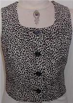 BlackWhiteLeopard Print Horse Show Vest Plus Size 13/14 - $38.00
