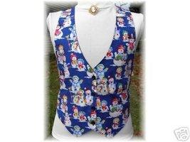 Snowman Snowmen Western Rail Halter Horse Show Vest LG - $24.99