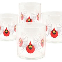 Charley Harper Cardinal Double Old Fashioned Set of 4 Glasses - $44.07