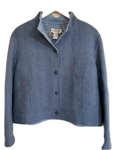 Pendleton Classic Herringbone Wool Blazer Blaue L Women  - $32.25