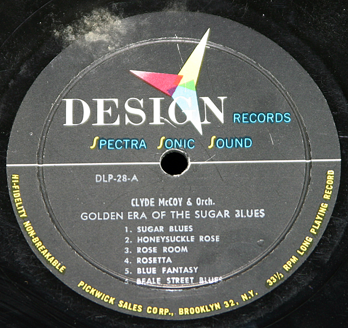 "Clyde McCoy  ""The Golden Era Of The Surgar Blues""   LP"