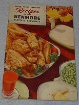 Old Vintage Kenmore Electric Servants Recipe Cookbook 1950 - $5.00