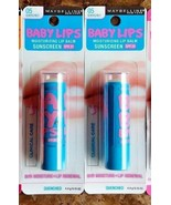 Lot 2 Maybelline Baby Lips Moisturizing Lip Balm 05 Quenched - $6.79