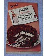 Baker's Favorite Chocolate Recipes Cookbook - $5.00