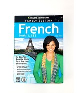 Instant Immersion Family Edition French Levels 1,2 & 3 PC & Mac Foreign ... - $23.36