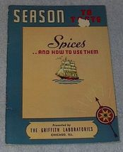 Season to Taste, Spices Griffith Recipes Cookbook - $5.00