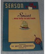Season to Taste, Spices Griffith Recipes Cookbook - $4.00