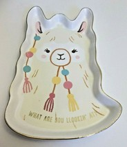Llama Trinket Tray What Are You Lookin' At New Ceramic Hallmark - $11.88
