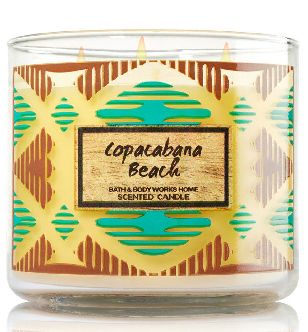 Bath & Body Works Copacabana Beach Three Wick 14.5 Ounces Scented Candle