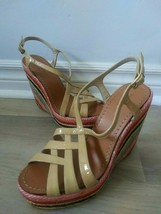 Kate Spade Lindsay Rainbow Wedge Platform Heels Espadrilles Sandals Size 6.5 - $40.23