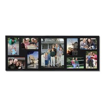 "9-Opening Black Wood Wall Hanging Photo Frame, 8-4x6"", 1-8x10"" - $32.77"