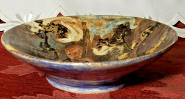 """HAND TURNED AND PAINTED JOSEPH THE SHEPHERD EARTHENWARE BOWL 6 1/4"""" x 1 3/4"""" image 2"""