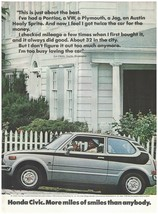 Original 1974 Honda Civic Vintage Print Ad- 4-Speed Transmission & Custom Stripe - $7.99