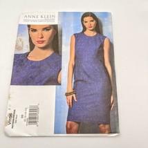 Vogue V1156 Anne Klein Sleeveless Shift Size  Sewing Pattern 8 10 12 14 - $19.75