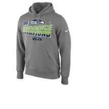 New Nfl Seattle Seahawks Conference Champs Sb Xlix Men's Hoodie Size L - £45.74 GBP