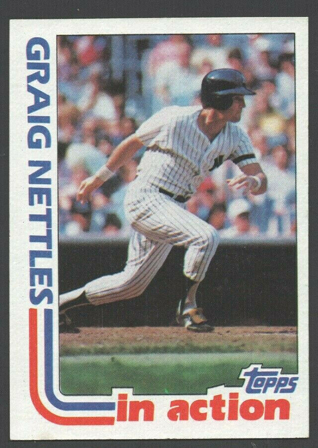 Primary image for New York Yankees Graig Nettles In Action 1982 Topps Baseball Card # 506 nr mt